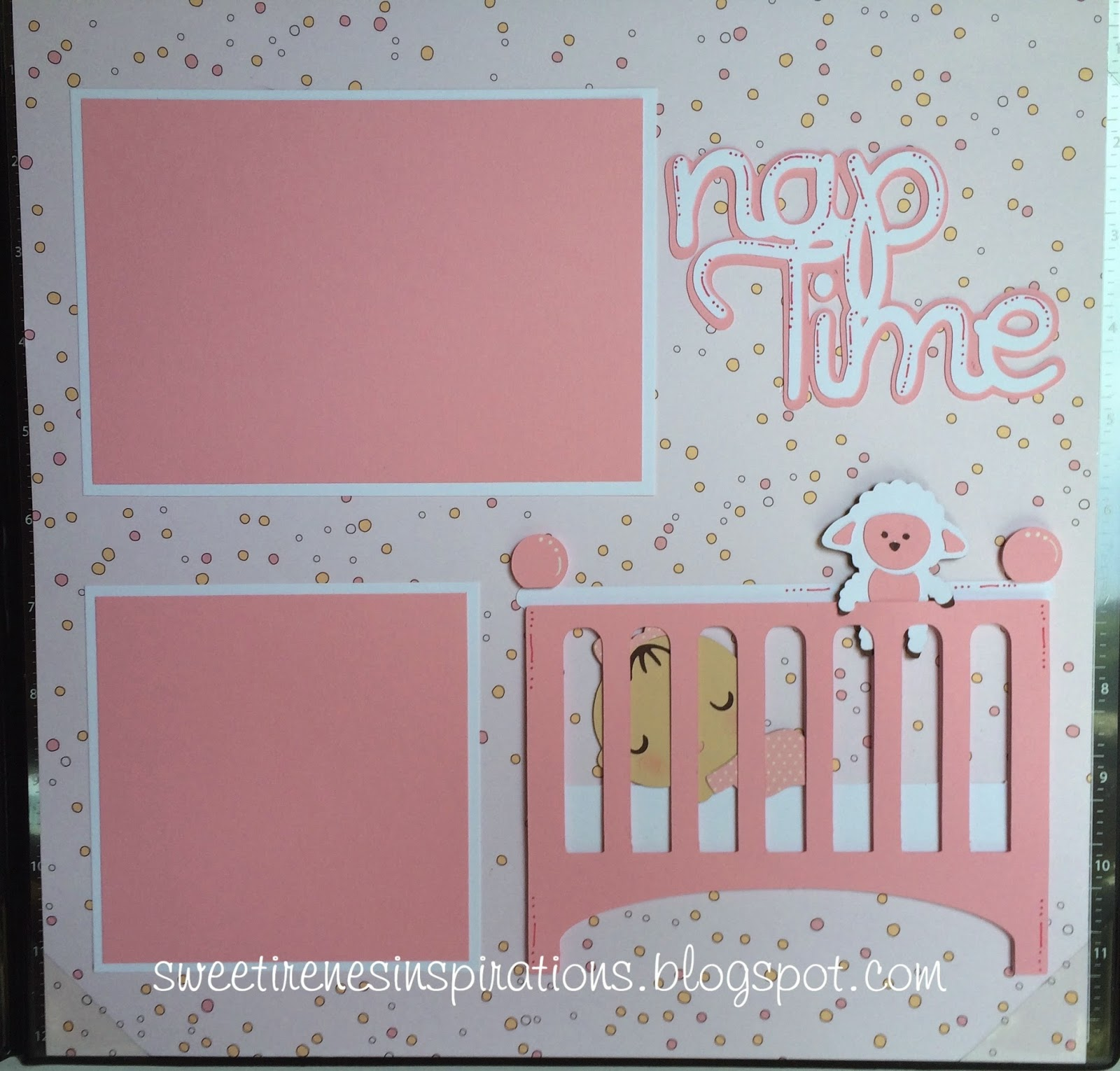 Scrapbook ideas for baby girl - Baby Girl 2 Page 12x12 Layout