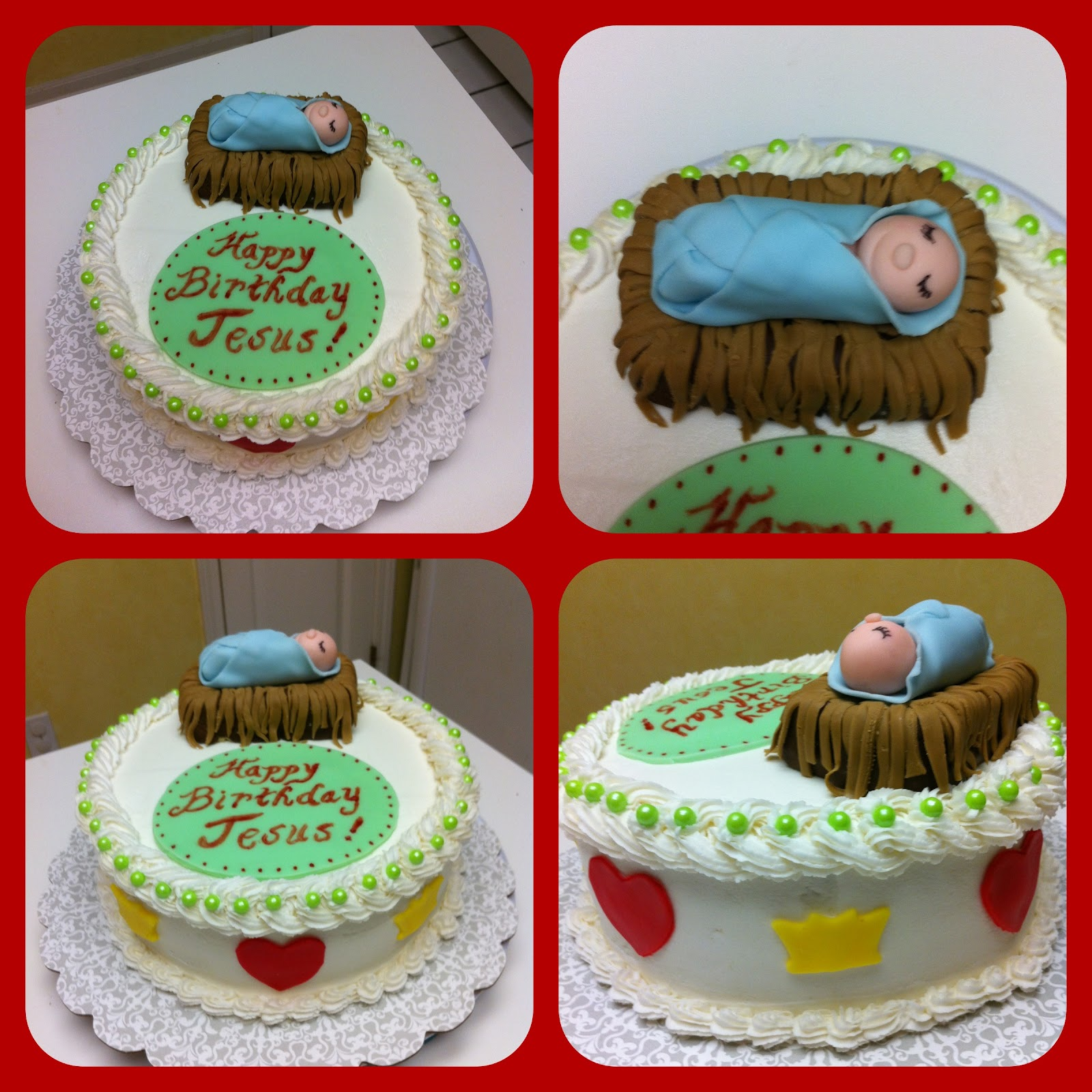 Gingerly Created Confections Happy Birthday Jesus Cake