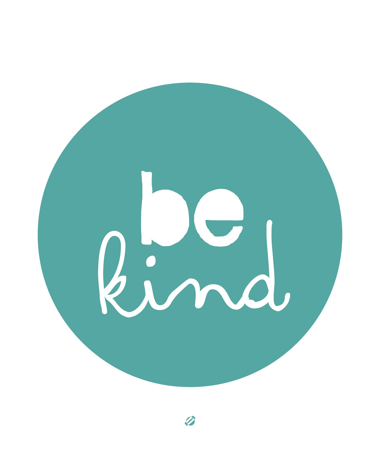 LostBumblebee ©2014 Be Kind- Free Printable Personal use only.
