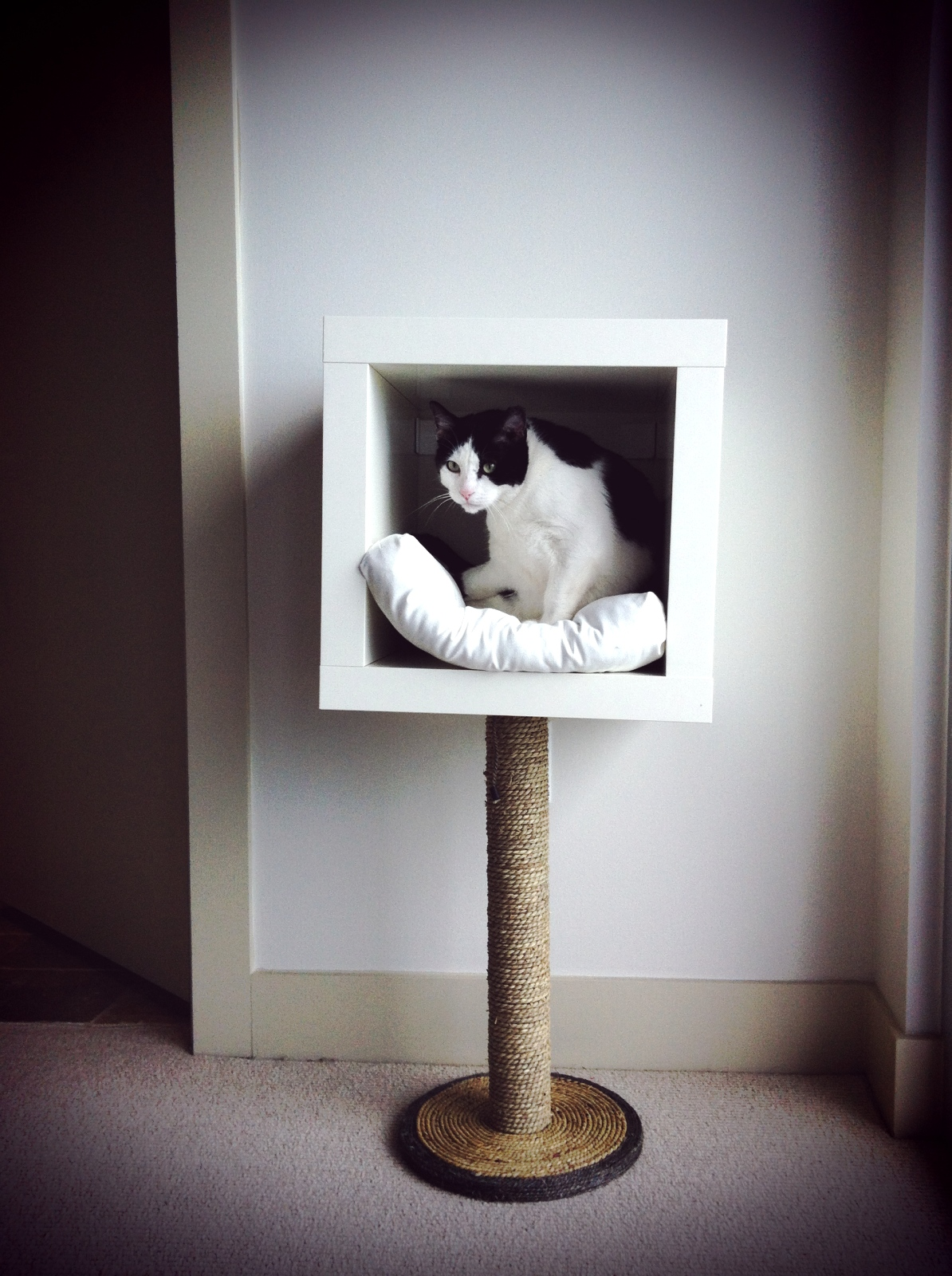 Deviant housewife ikea hack modern cat bed - Modern cat tree ikea ...