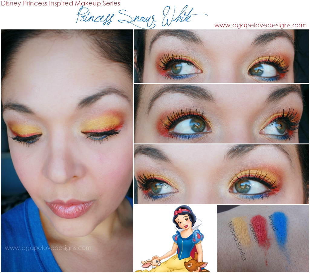 Agape love designs snow white inspired makeup plus i think any more blue and we cross over into superman inspired makeup haha baditri Choice Image