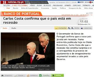 portugal em recessão