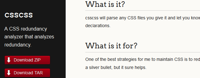 Tools for Formatting, Organizing and Tidying CSS Code