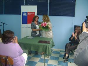 DIRECTORA DEL HOSPITAL Y DIRECTORA REGIONAL DEL SERVCIO DE SALUD VALDIVIA