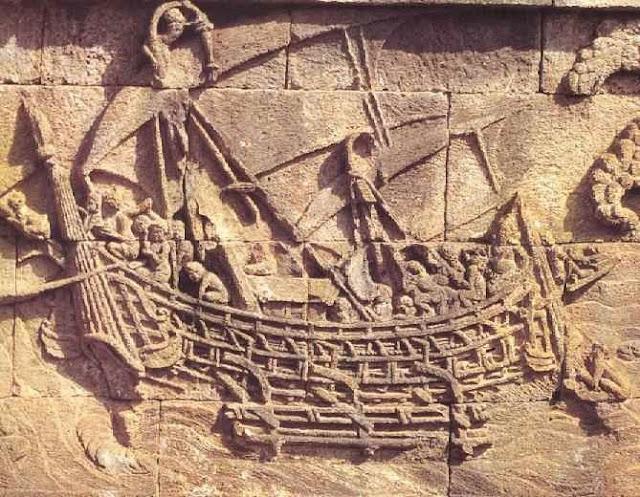 Gambar Kapal Layar Borobudur Relief