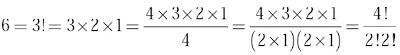 permutasi untuk 4 unsur dengan dua pasang unsur sama