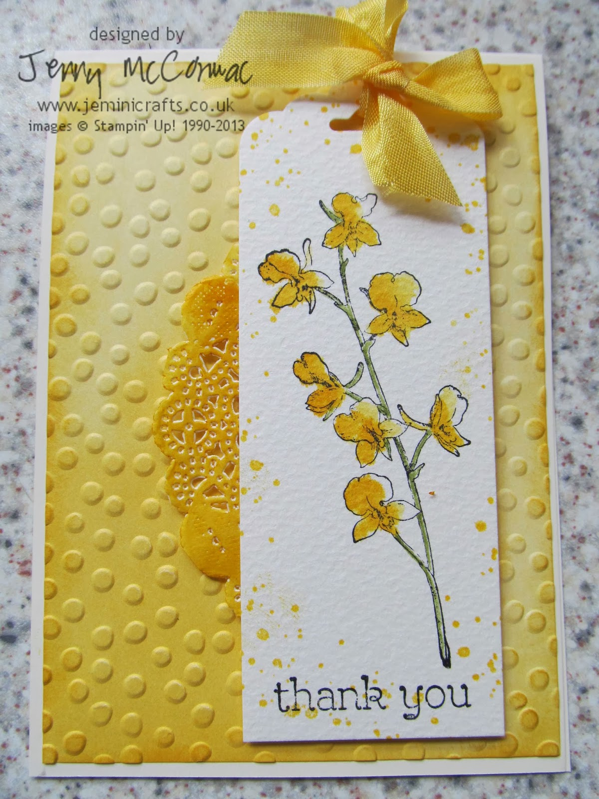 Stampin Up Watercolour Cards 2014 Jemini Crafts