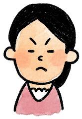女性の表情のイラスト(怒り)