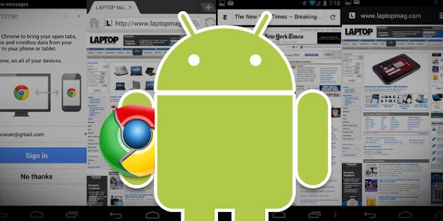 Google dobra o Chrome em Android