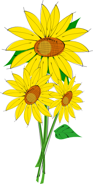 All Cliparts: Sunflower Clipart