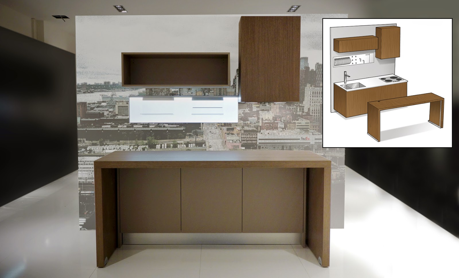 Piccola cucina angolare i mobili salvaspazio di alicante - Colori per cucina piccola ...