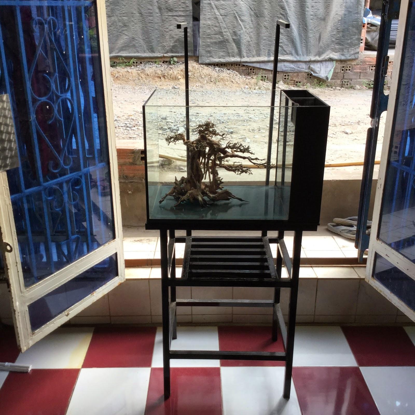 Tủ sắt cho hồ thủy sinh - Thiết kế bởi Vinh Aqua