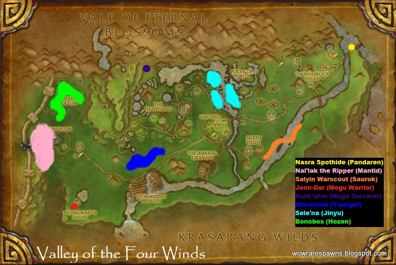 WoW Rare Spawns Valley of the Four Winds Rare Champions