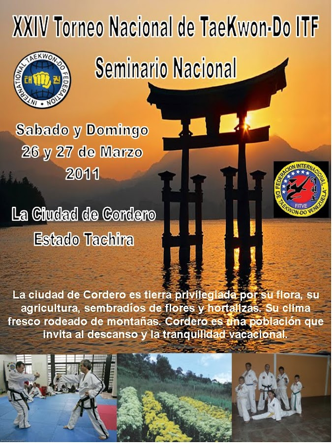 Seminario y Torneo Nacional de TaeKwon-Do ITF Estado Táchira