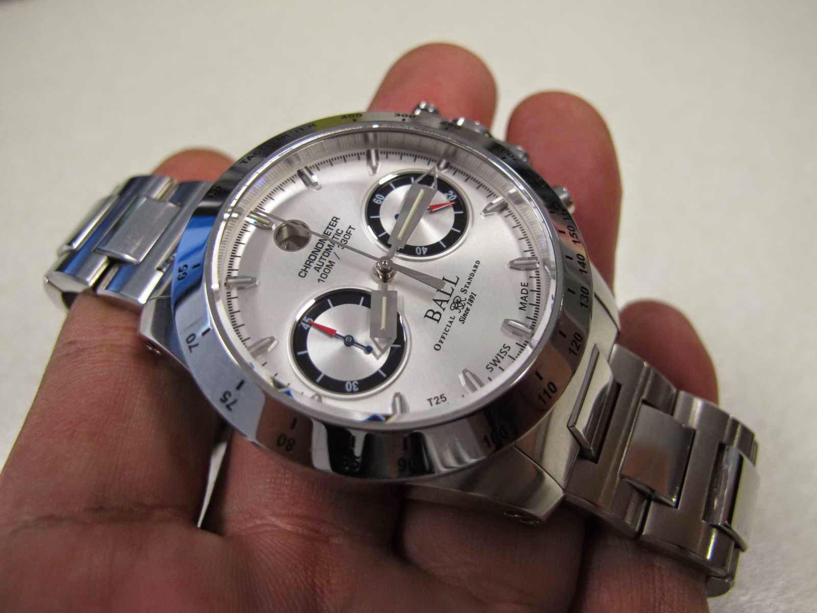 BALL CHRONOGRAPH yang branded terkenal menjadi jam tangan ficial Rail Road di AMerika