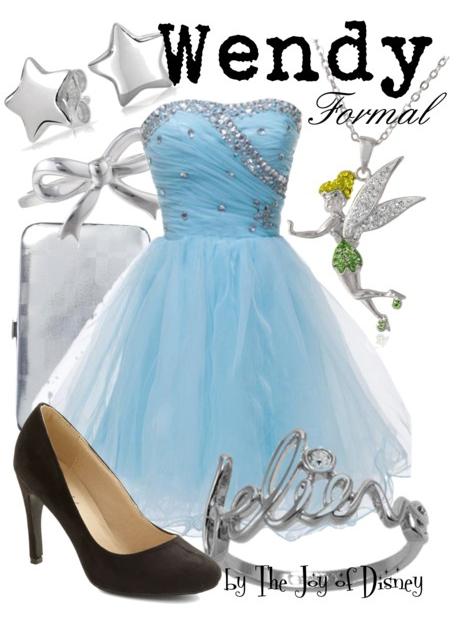 peter pan, wendy darling, disney, disney fashion, disney prom, prom dress