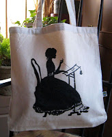 """Stitching Lady"" Tote Bag - $15"