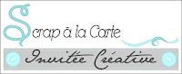 """Ambassadrice pour la Boutique """"Scrap à la Carte"""""""