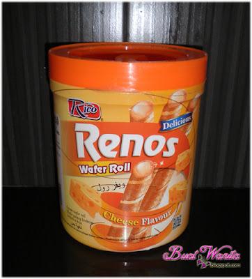 Wafer Gulung Perisa Keju. Cheese Flavour Wafer Roll. Wafer Roll Brand Rico. Wafer Gulung Sedap dan Rangup.