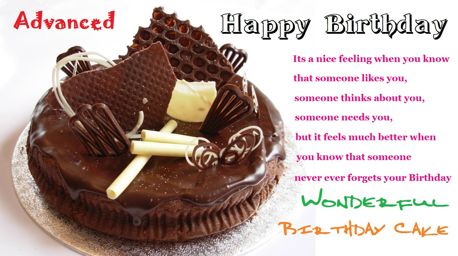 Photos Of Birthday Cake And Wishes : Khushi For Life: Advanced Birthday Wishes, Birthday Cake ...