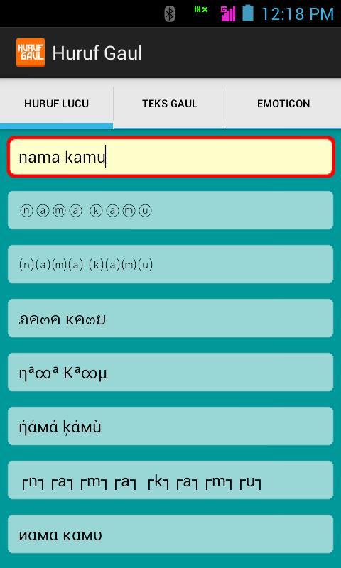 Ganti font BBM Android