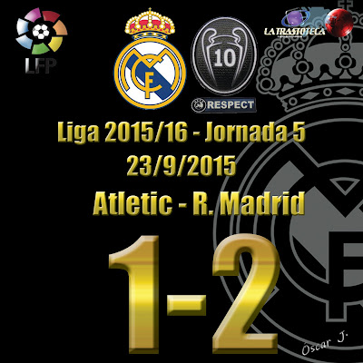 Atletic 1 - 2 Real Madrid - Liga 2015/16 - Jornada 5 - (23/9/2015)
