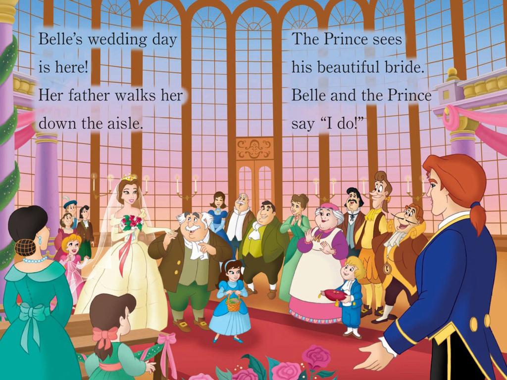 Princesas Disney: Scan de la Boda de Bella y Adam (Beautiful Brides ...