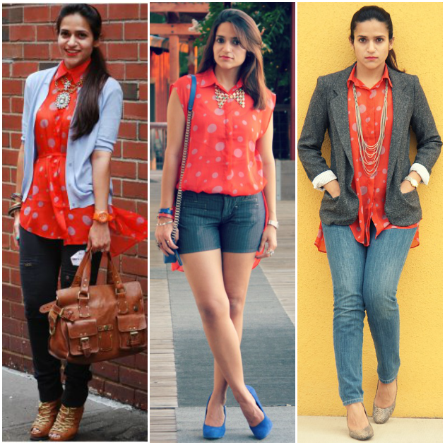 Three Ways To Wear A High Low Blouse, Tanvii.com