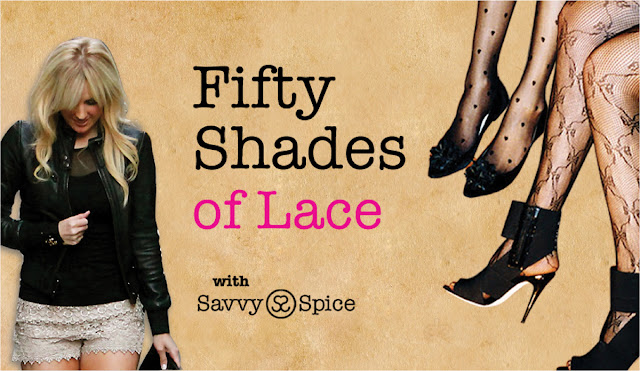Fifty+Shades+of+Lace,+Savvy+Spice+how+to+add+romantic+style+post,+lace+shorts,+black+heels,+printed+tights