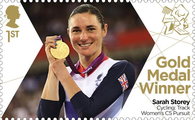 Sarah Storey Paralympic Gold Medal Winner stamp.