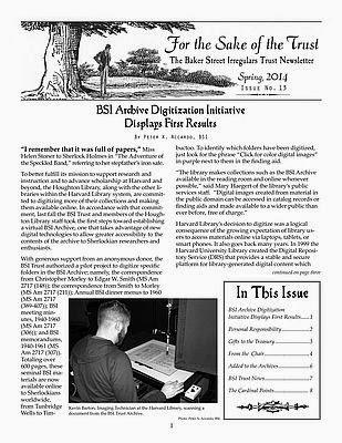 BSI Trust Spring 2014 Newsletter