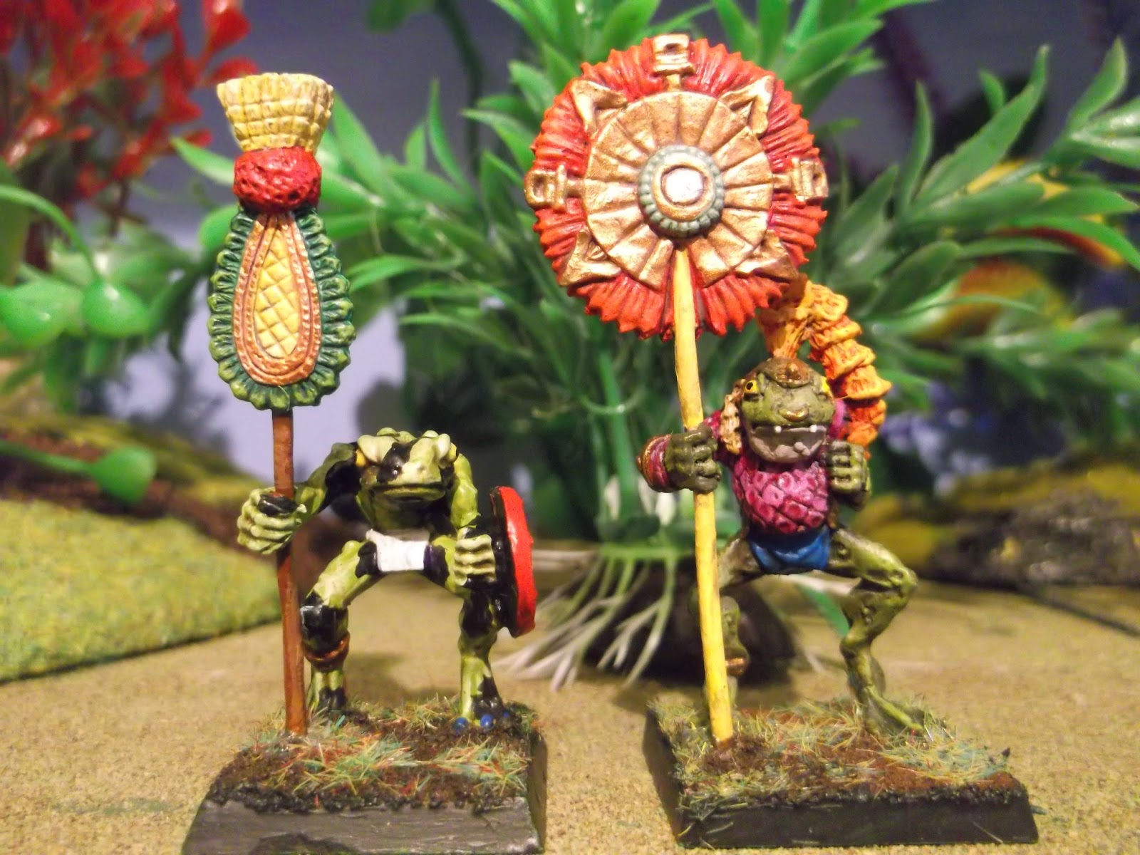 Aztec Jaguar Warrior Helmet Slann standards and jaguar