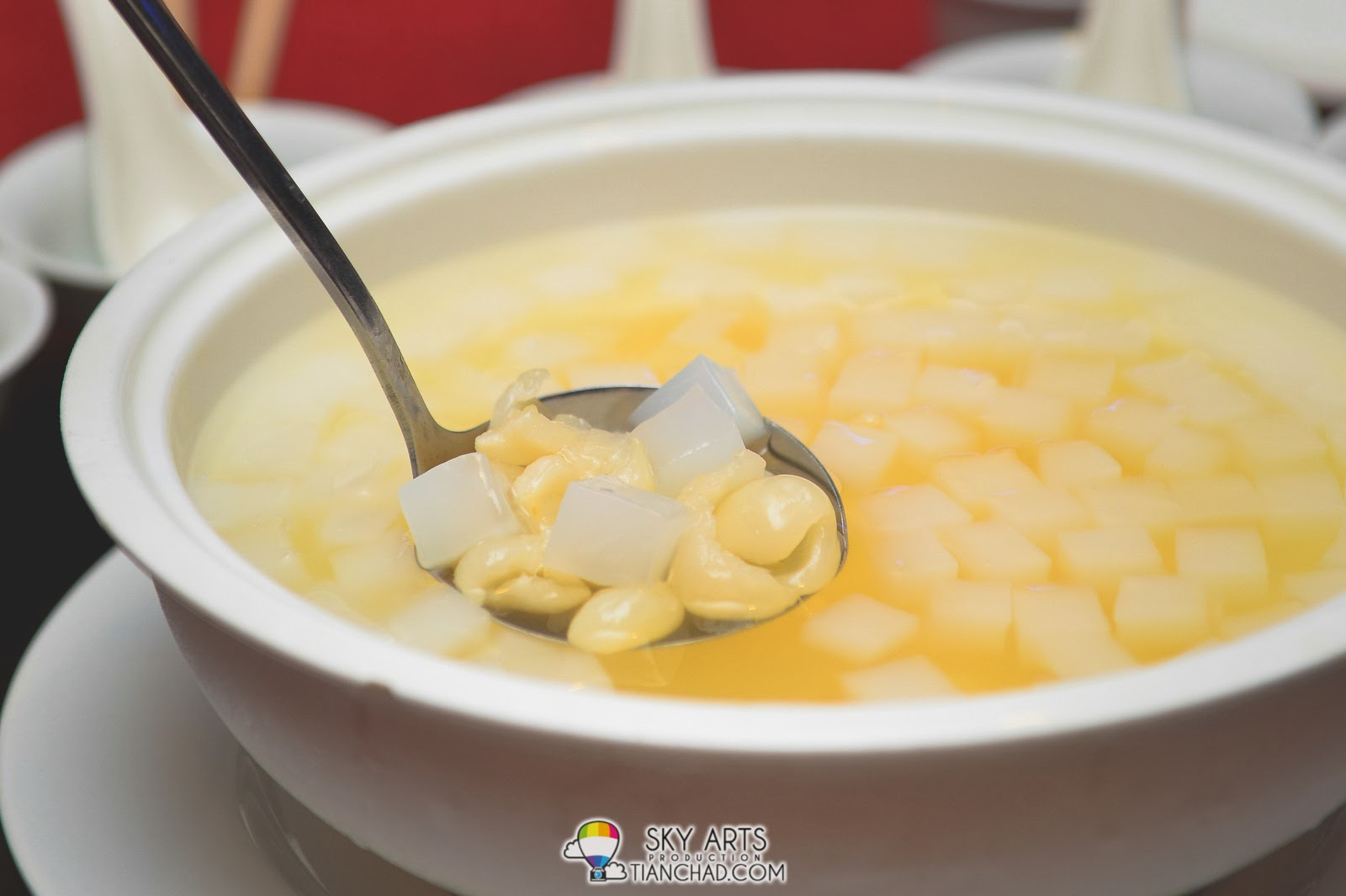 龙眼椰果冻 Chilled Longan and Nata De CocoDuet @ Phoenix Chinese Restaurant at Holiday Inn Glenmarie