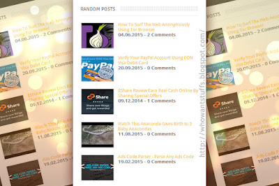 [Tips] Cara Membuat Widget Random Post yang Simpel di Blog