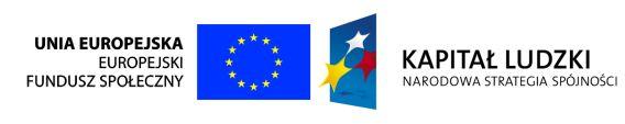 Zakup współfinansowany ze środków Unii Europejskiej (Europejskiego Funduszu Społecznego)