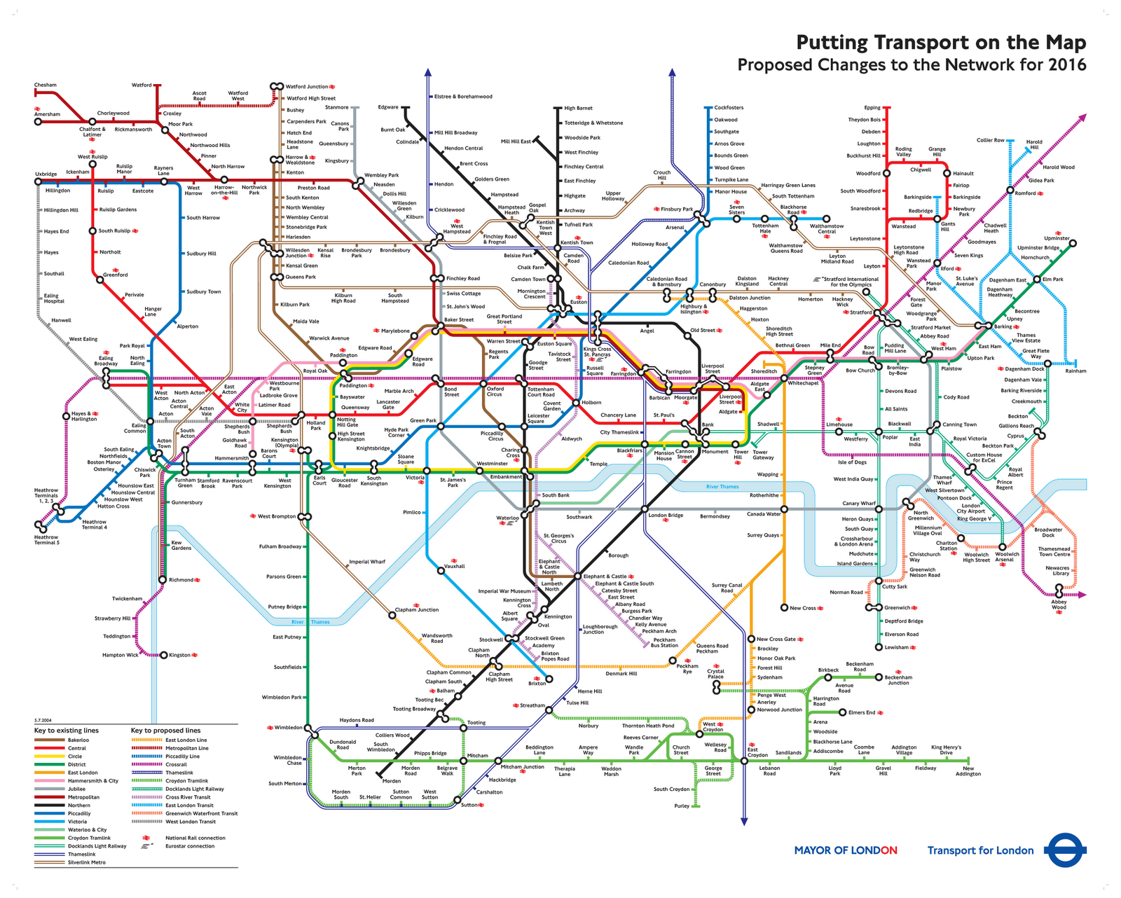 Tube map from 2004 shows how the London Underground might have