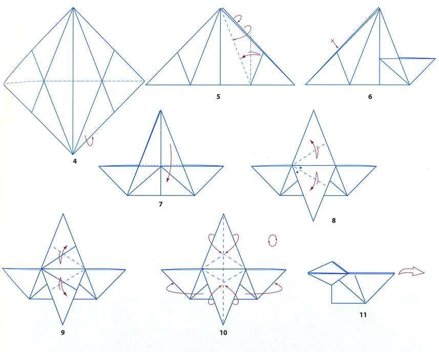 Как сделать оригами вороны