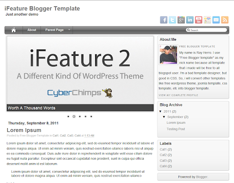 iFeature Blogger Theme