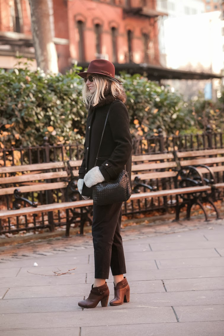 Photo by Ian Rusiana pinstripe crop pants Tibi Rag & Bone Harrow boots