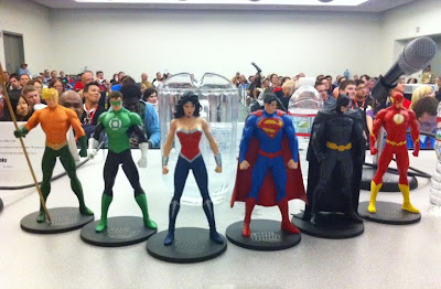 The New Justice League of America Action Figures by DC Direct - Aquaman, Green Lantern, Wonder Woman, Superman, Batman & The Flash