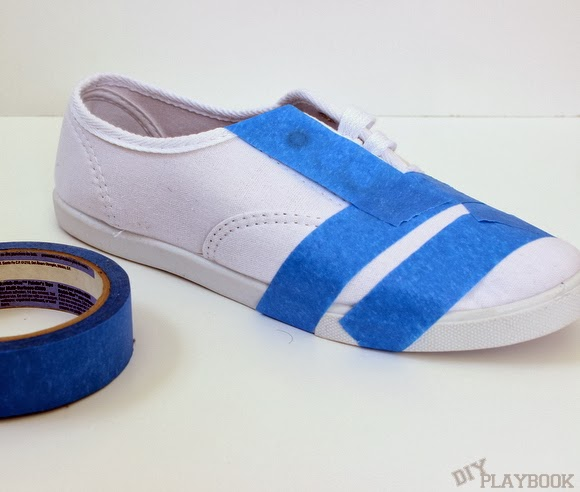 taped shoes