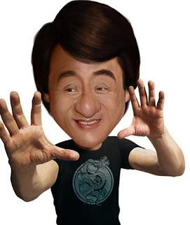 Gambar Karikatur Jacky Chen 3D Artis Hollywood