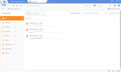 uc browser for pc screen