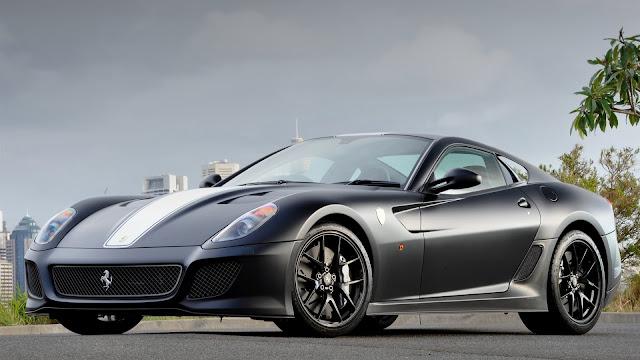Ferrari 599 GTO gray supercar HD Wallpaper