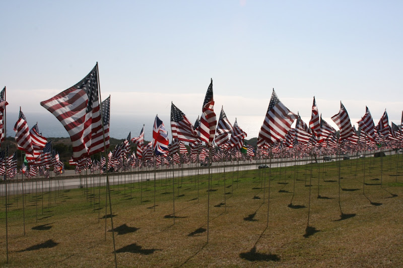Pepperdine 9/11 remembrance flags