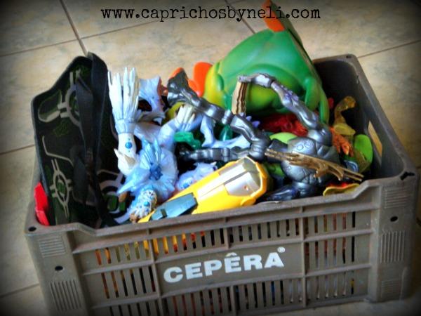 Reciclando caixa de papelão, reutilização