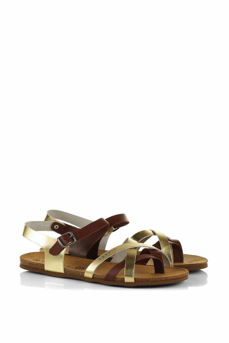 sandales en cuir bicolore ESPRIT