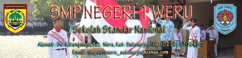 ..::SMP Negeri 1 Weru Sukoharjo::.. Sekolah Standar Nasional