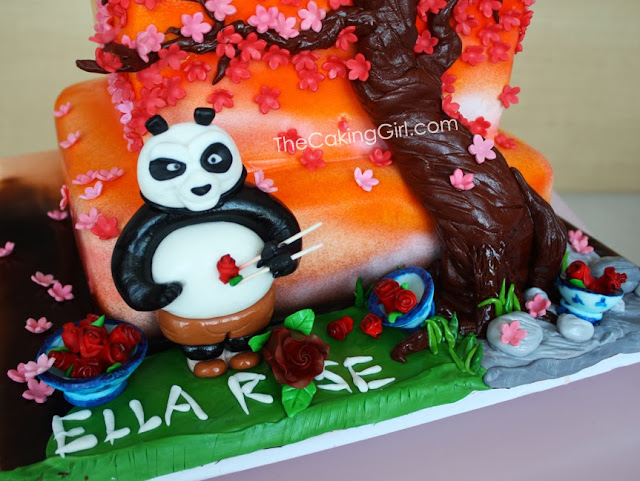kungfu panda theme cake for girl