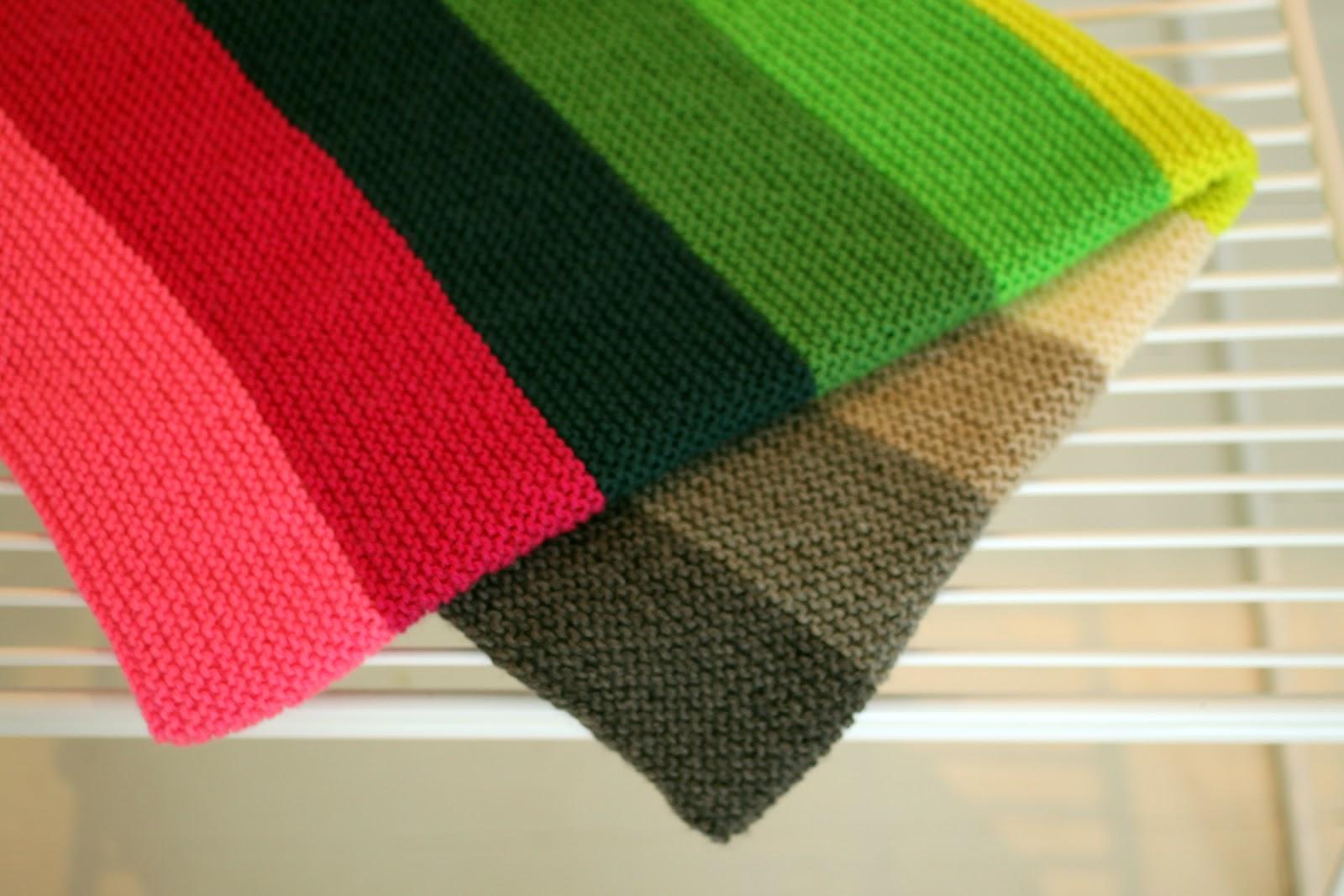 strikket slumretæppe